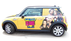 Wraps like this Mini Cooper are ideal opportunities to use an ultra-calendered vinyl
