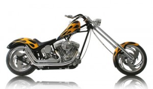 Air brushed graphics on a chopper from OCC