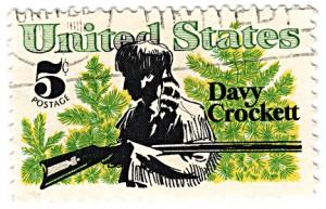 USA - CIRCA 1987 5 cents postage stamp:  David ( Davy) Crockett