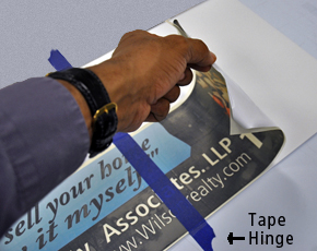 Tape Hinge for applying vinyl graphics (Fig. 1)
