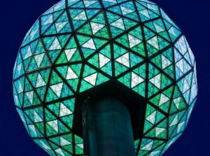 LEDs Times Square Ball Drop Blue Shades of Color