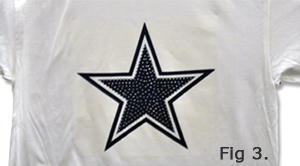 Rhinestones Star on T-Shirt