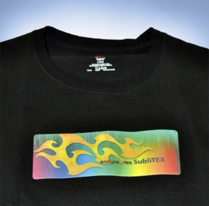 EnduraTEX's SubliJET heat transfer film looks well on dark garments