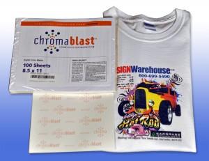 New ChromaBlast Paper with Sample Shirt