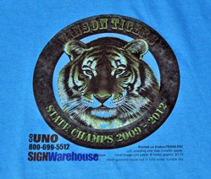 GOUNO on Blue T-Shirt