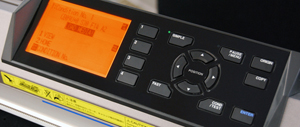 Fig1: The new LCD Control Panel includes one-touch commands like Fast and Copy