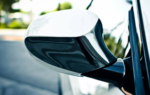 Fig 1: Chrome and Carbon Fiber are ideal for accents on mirrors, gas caps, louvers, etc.