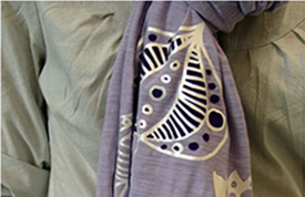 "Fig 2: ""T-shirt Vinyl"" also looks great on scarves."