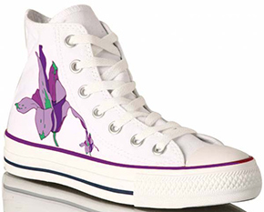 Fig 1: Converse high tops look great with custom heat transfer graphics.