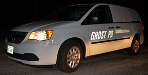 Fig 2: Busted! At night, the graphics work like standard police cruiser markings.