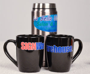 Fig 1: The iColor system supports decorating dark and un-coated mugs.
